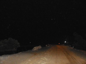 Salah satu jalan gelap yang harus kami lewati menuju Muaragembong, Kabupaten Bekasi. (Foto: Kandi)