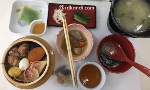 Set menu Kamameshi (pot rice).