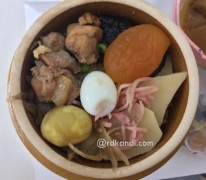 Salah satu menu dalam set Kamameshi.