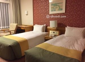 Salah satu kamar di Karuizawa Prince Hotel.